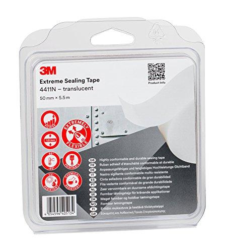 3M 4411N5055 Hochleistungs-Dichtband, 4411N, 50 mm x 5.5 m, 1.0 mm, Transluzent