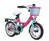 BIKESTAR Premium Sicherheits Kinderfahrrad 12 Zoll für Mädchen ab 3 - 4 Jahre ★ 12er Kinderrad Classic ★ Fahrrad für Kinder Pink & Türkis