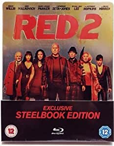 R.E.D. 2 - limited exclusive STEELBOOK Edtion! UNCUT! (geprägter Titel) [Blu-ray]