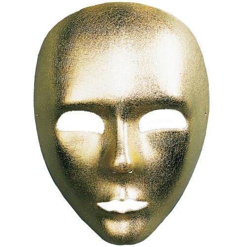 aus Textil, gold (Voll Venezianische Maske)