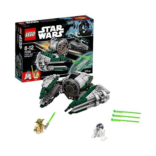 LEGO- Star Wars Jedi Starfighter di Yoda Costruzioni Piccole Gioco Bambina, Multicolore, 75168 1 spesavip