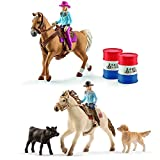 Schleich Horse Club Western Set - Westernreiten und Barrel Racing 42419 41417 Spielfiguren Set