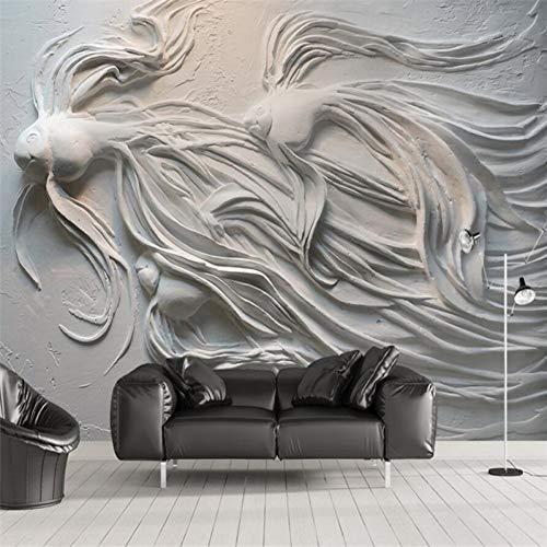 Guppys Fernsehsofahintergrund-Wandgemälde große grüne Wand ()