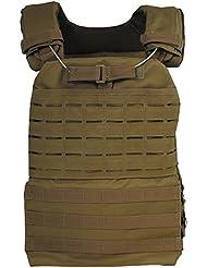 MFH–Chaleco táctico Laser US Army Táctica Molle Chaleco Paintball Chaleco para lucha Chaleco Modular Sistema muchos colores, Marrón, talla única