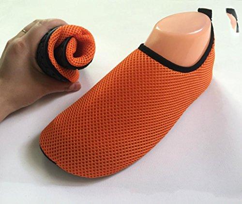 TranserDx-020 - Sandali con Zeppa Unisex per bambini Unisex adulti Orange