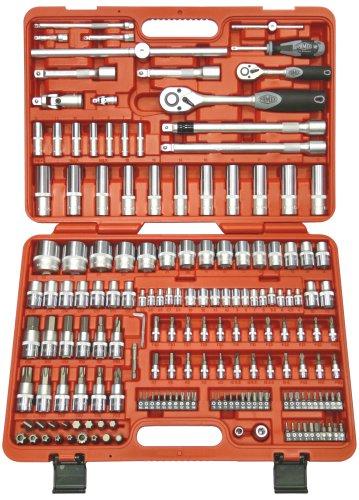 Famex Mechaniker Steckschlüsselsatz 526-SD-20 mit Feinzahnknarren, 12,5mm (1/2-Zoll)- und 6,3mm (1/4-Zoll)-Antrieb, 4-32mm, 173-teilig