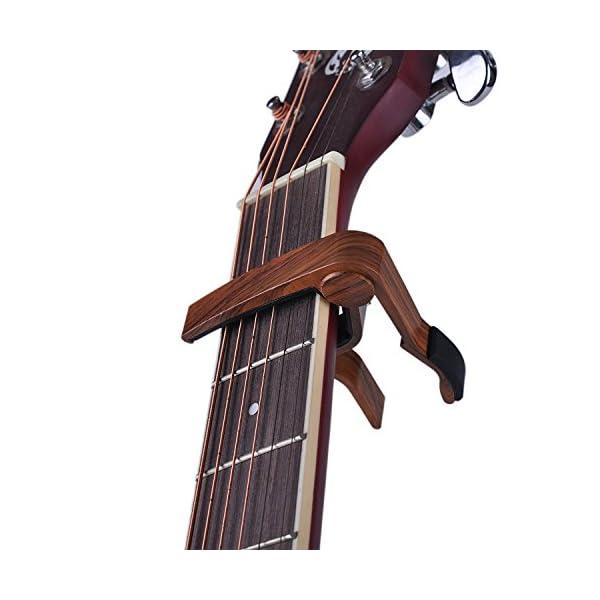 Niafeya, capotasto Trigger perfetto per chitarra acustica, elettrica, ukulele, banjo, mandolino, basso,con 5 plettri