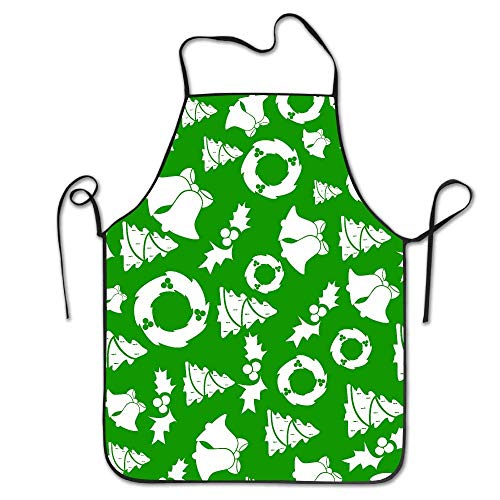 Green Christmas Trees Schürzen Lätzchen Mens Womens Lace Adjustable Polyester Cleaning Serving Crafting Gardening Baking BBQ Grill Custom Aprons Christmas Free Cell