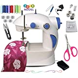 Vivir Plastic Latest Ming H 4 in 1 Multifunctional Sewing Machine for Home with Focus Light (Blue)