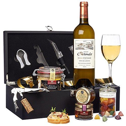 """Ducs de Gascogne - Coffret gourmand """"Sommelier"""" - comprend 5 produits dont un foie gras"""