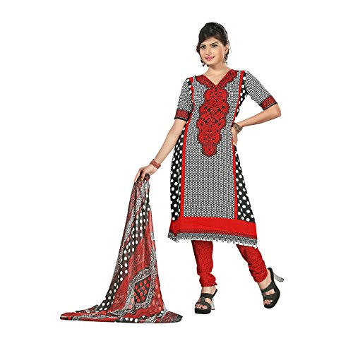 Aaina Multi Color American Crepe Printed Dress Material  available at amazon for Rs.209
