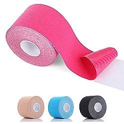 SiaMed Premium Kinesiotape gelb 2,5 cm | Kinesiologie Tape Breiten | wasserfest, hautfreundlich, latexfrei & elastisch | Sporttape - Pflaster