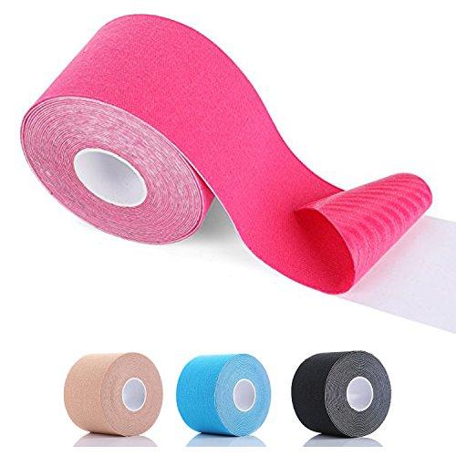 SiaMed Kinesiotape Sport Tape 2cm/5cm/7,5cm/10cm Breite - hochwertiges Kinesiologie Tape - für den anspruchsvollen Einsatz im Meditaping (hellblau, 2,5 cm)
