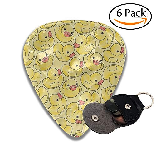 Duck Celluloid Guitar Picks 6 Pack Includes Thin, Medium, Heavy & Extra Heavy Gauges(0.71mm) -