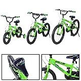 Actionbikes Kinderfahrrad Zombie ab 3-9 Jahren 12 16 20 Zoll Grün Kinder Mädchen Jungen Fahrrad (16` Zoll)
