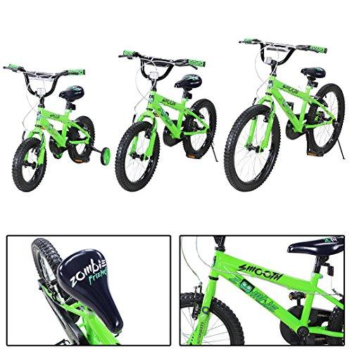 Actionbikes Kinderfahrrad Zombie ab 3-9 Jahren 12 16 20 Zoll Grün Kinder Mädchen Jungen Fahrrad (20` Zoll)