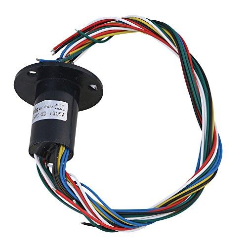 Bqlzr Black 12fili  giri/min AC/DC 240V 5a in plastica Hattype capsule slittamento anello per apparecchiature elettroniche
