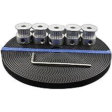 TOOGOO Impresora 3D Accesorios 5pcs 20 dientes GT2 Polea de sincronizacion Sincronizacion de la rueda 5mm