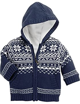 Schnizler Unisex Baby Strickjacke Jacke Norweger, Fleece Gefüttert