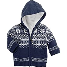 0ebedfc91f Schnizler Unisex Baby Strickjacke Jacke Norweger, Fleece Gefüttert