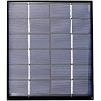 Zerodis Panel Solar Módulo de Panel Solar Monocristalino del Cargador del Panel Solar 3V 6W para
