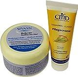 Naturset für Behandlung gegen Akne, Pickel, unreine, fettige Haut - Set: SIVASH-Heilerde-Gesichtsmaske 250g + Teebaumöl Pflegecreme 50ml