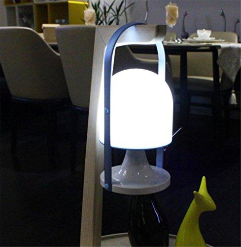 Metall-eitelkeit-bank (LUCKY CLOVER-A Tragbare Dimmable LED Laterne Zelt Camping Tischleuchte, wiederaufladbare & Touch Control Lampe, Outdoor & Indoor, Weihnachtsdekoration , blue)