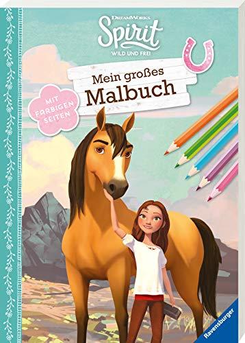 Dreamworks Spirit Wild und Frei: Mein großes Malbuch: Mit farbigen Seiten