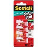 Scotch Single Use Super Glue No-Run Gel (SGAD-929) - 4 tubes of 0.5g per pack