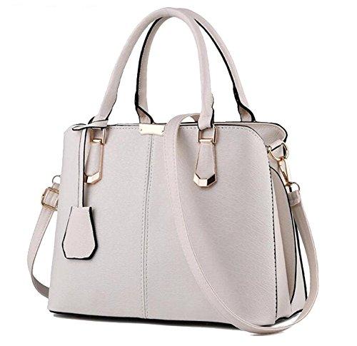 Baymate Frau Tasche einfach lässig Schultertasche Messenger Bag Handtasche Beige