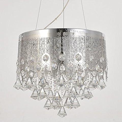 HuaJing® Sala de estar 5 Dormitorio simple y lámparas de cristal elegante lámpara cristalina moderna restaurante araña de cristal araña de cristal