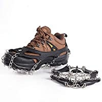 meowtastic 19-point Crampons, Snow Ice Grippers for Climbing Glacier Montaineering for Men Women