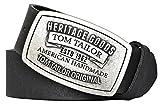 TOM TAILOR Herren Ledergürtel Made in Germany schwarz 90