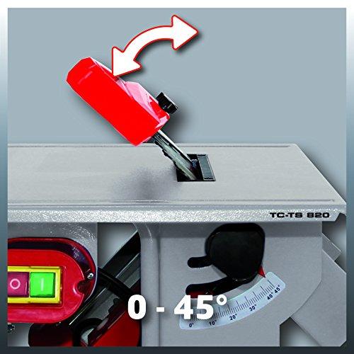 Einhell Tischkreissäge TC-TS 820 (800 W, Sägeblatt-Ø 200 mm, max. Schnitthöhe 45 mm, Tischgröße 500 x 335 mm) - 4