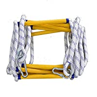 Escape Rope Ladder,Soft Safety Ladder with Carabiners for Adults Escape from Window and Balcony