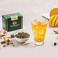 VAHDAM Especia de mango Iced Té chai | 40 porciones, 8 cuartos de galón | Ingredientes 100% naturales | Delicioso sabor de té negro, especias y mango | Té helado de mango | Iced Tea Loose Leaf | 100gr (juego de 2)