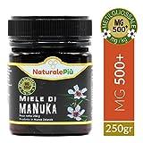 Miel de Manuka 500+ MGO 250 gr | Produit en Nouvelle-Zélande. Actif et brut, 100 % pur et naturel | Méthylglyoxal testé |
