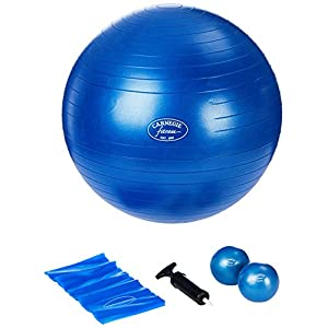 Carnegie Pilates Set Toning Bälle 450g Pilates Band 120cm Gymnastikball ø 65cm