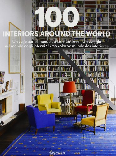100 interiors around the world. Ediz. italiana, spagnola e portoghese . Cofanetto