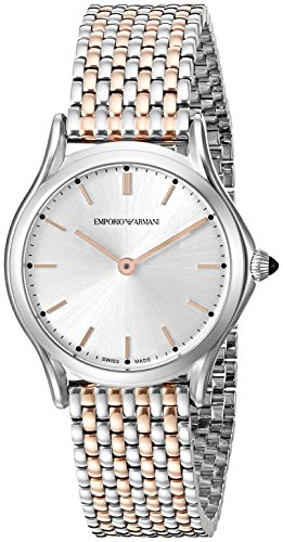 Emporio Armani Swiss Made Women's ARS7001 Analog Display Swiss Quartz Rose Gold-Tone Watch