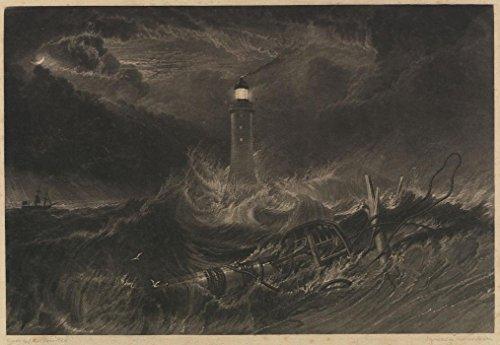 Das Museum Outlet-Eddystone-Leuchtturm, 1824-A3Poster
