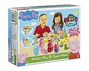avere ore di divertimento rotolare, pacche e modellare i tuoi personaggi preferiti di Peppa Pig con questa figura maker kit comprende: 5vasche di pasta (56.6g), 2stampi, 2frese di impasto, 1scolpire strumento & accessori punch-out fog...