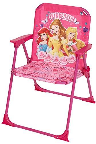 Princess Disney Designs Klappstuhl mit Material, 52 x 37 x 35 cm, Pink