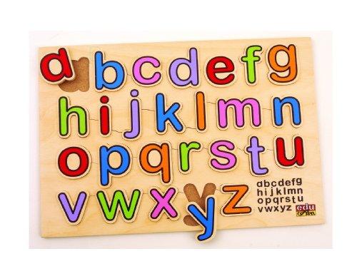 BSM edufun EF 12010-Holzspielzeug-ABC Kleinbuchstaben