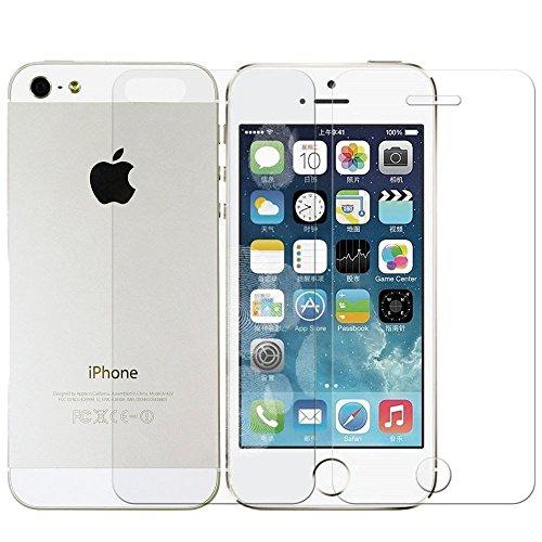 Preisvergleich Produktbild 1 Set iPrime® Premium Apple iPhone 5/5s/5c/SE Panzerfolie aus TPU Anti Shock Folie Panzer Schutzfolie Displayschutzfolie - Vorderseite Front + Rückseite Back