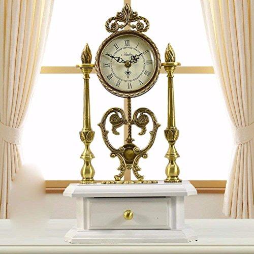 Colazione continentale stile pastorale di legno solido King size rame antico orologio orologio mute tabella creative town house ornamenti,un