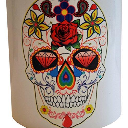 Sugar Skull Diamond Eyes Traditionelle 325 ml Porzellan Kaffee Tee Getränkebecher stilvoll Erstaunlich perfektes Geschenk Geschenk Souvenir Tasse