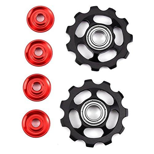WINOMO 2pcs Aluminiumlegierungs-Fahrrad-Fahrrad-Rad-hintere Umwerfer-Riemenscheibe 11T für Shimano (Schwarzes) -