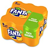 Fanta Refresco - Paquete de 9 x 330 ml - Total: 2970 ml