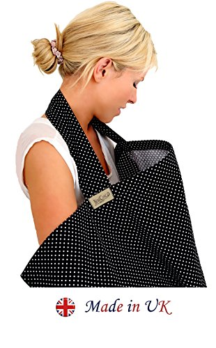 BebeChic-Top-Quality-100-Cotton-Breastfeeding-Covers-Boned-Nursing-Tops-with-Storage-Bag-black-white-dot